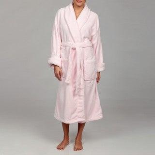 Woven Workz Unisex 'Boston' Pink Microfiber Bath Robe