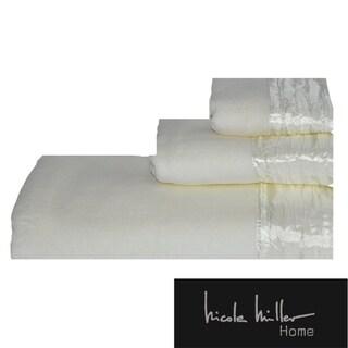 Nicole Miller Sparkle Cotton 3-piece Towel Set