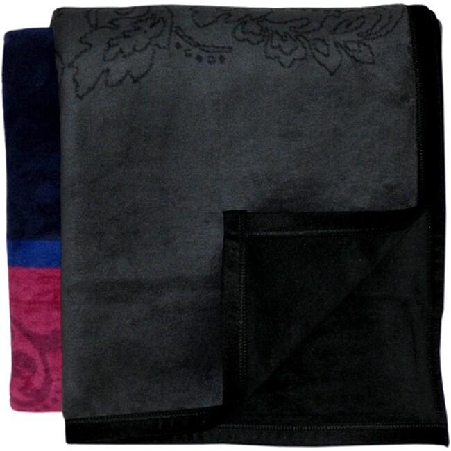Bocasa Brocade Woven Throw Blanket