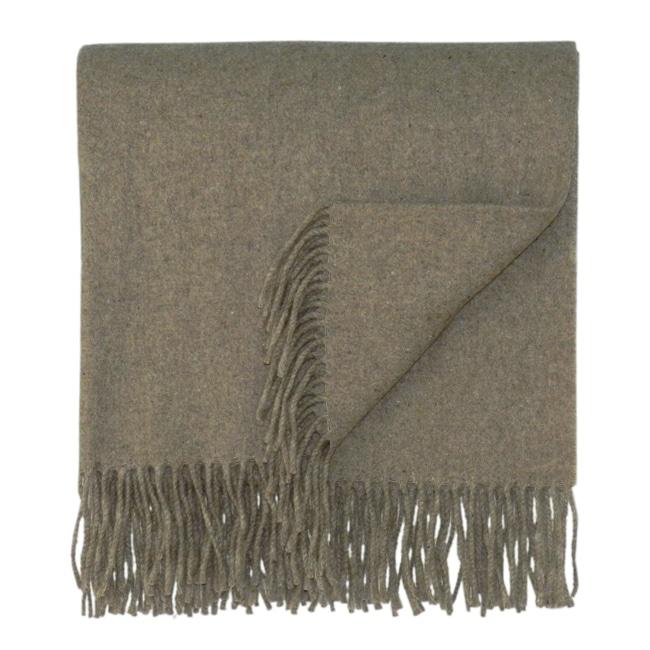 Bocasa Brown Woven Cashmere Blanket
