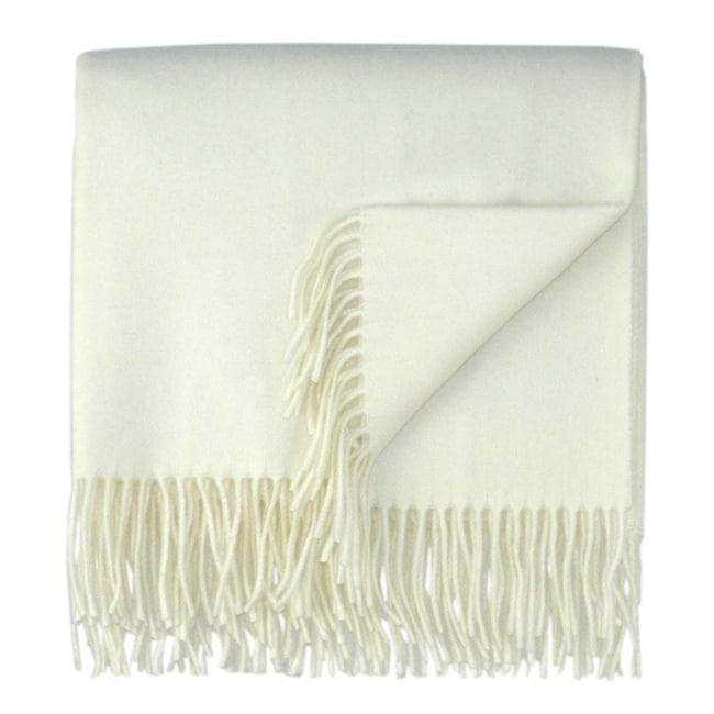 Bocasa Natural Woven Cashmere Blanket