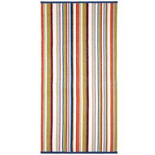 Celebration Jacquard 2-piece Blue Multi Striped Beach Towel Set
