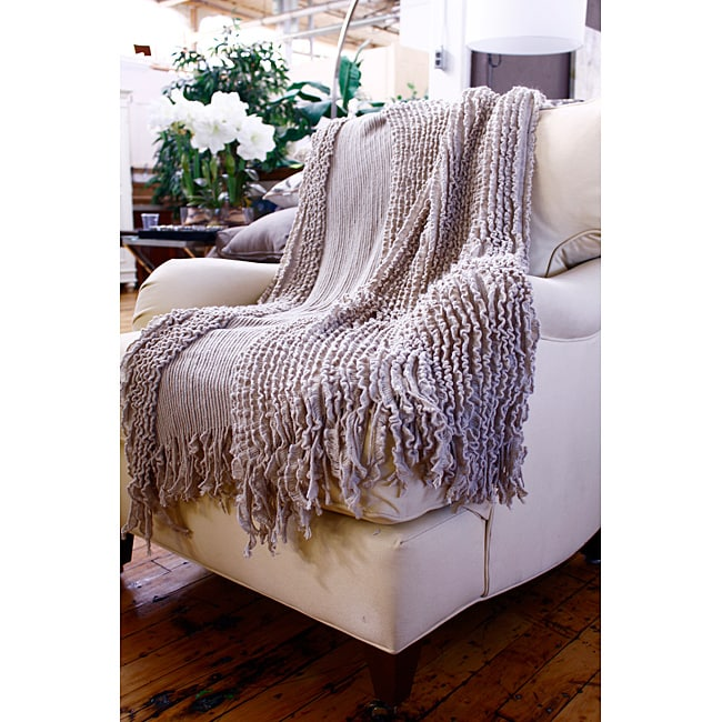 Charlotte Camel Tan Ruffle Throw