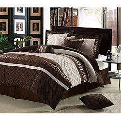 cheetah brown oversized 8 piece comforter set free