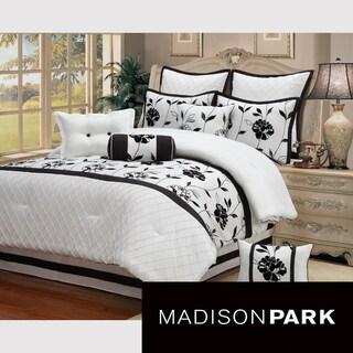 Christina 10-piece Comforter Set - Black/White