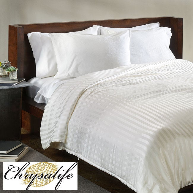 Chrysalife Silk-filled Stripe Jacquard Silk California King-size Comforter