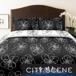 City Scene Luna King-size 3-piece Duvet Cover Set