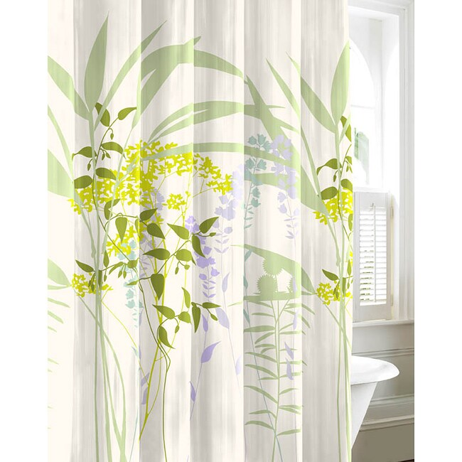 City Scene Mixed Floral Shower Curtain