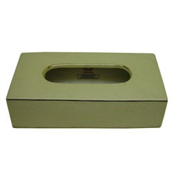 Cream Rectangular Porcelain Tissue Box
