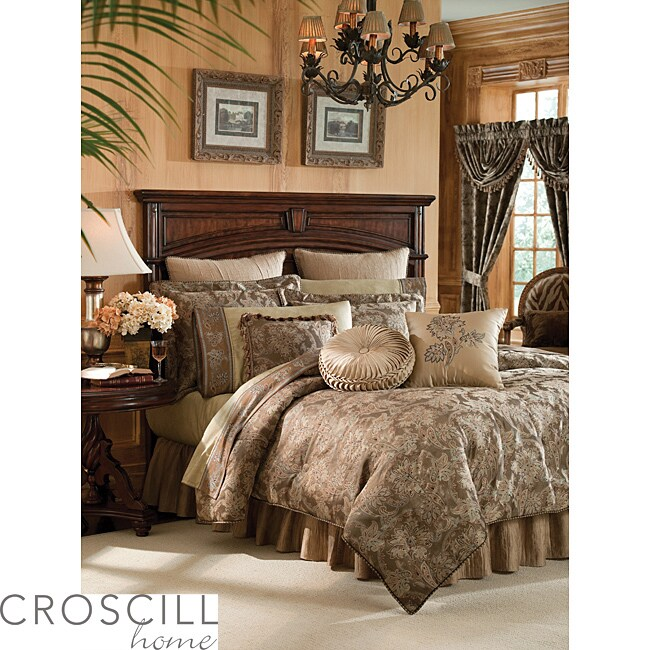 Croscill Botticelli Taupe Queen-size 4-piece Comforter Set - Thumbnail 0