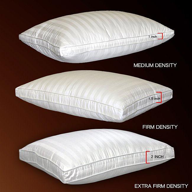 Damask Stripe 500 Thread Count Softie Around Density Pillow