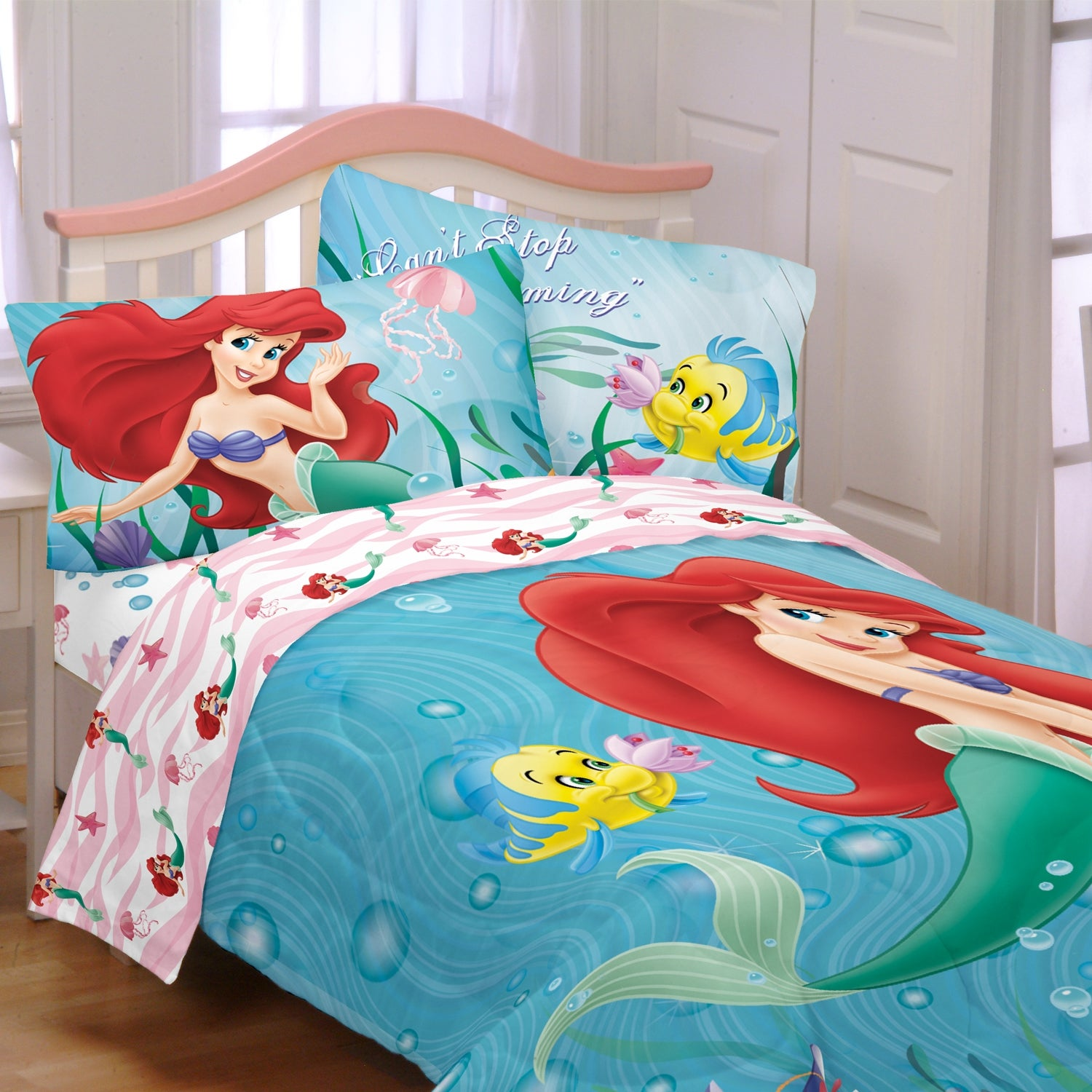 Disney Little Mermaid \'Sea Friends\' 4-piece Bed in a Bag with Sheet Set