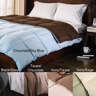 All-Season Luxurious Reversible Twin XL-size Down Alternative Comforter