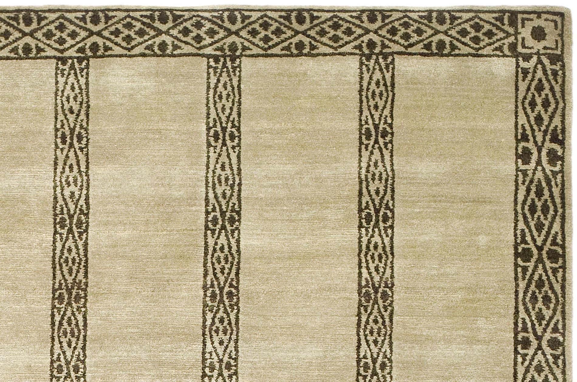 Handmade Thomas O'Brien Marco Olive/ Green Wool Rug (9' x 12') - Thumbnail 2