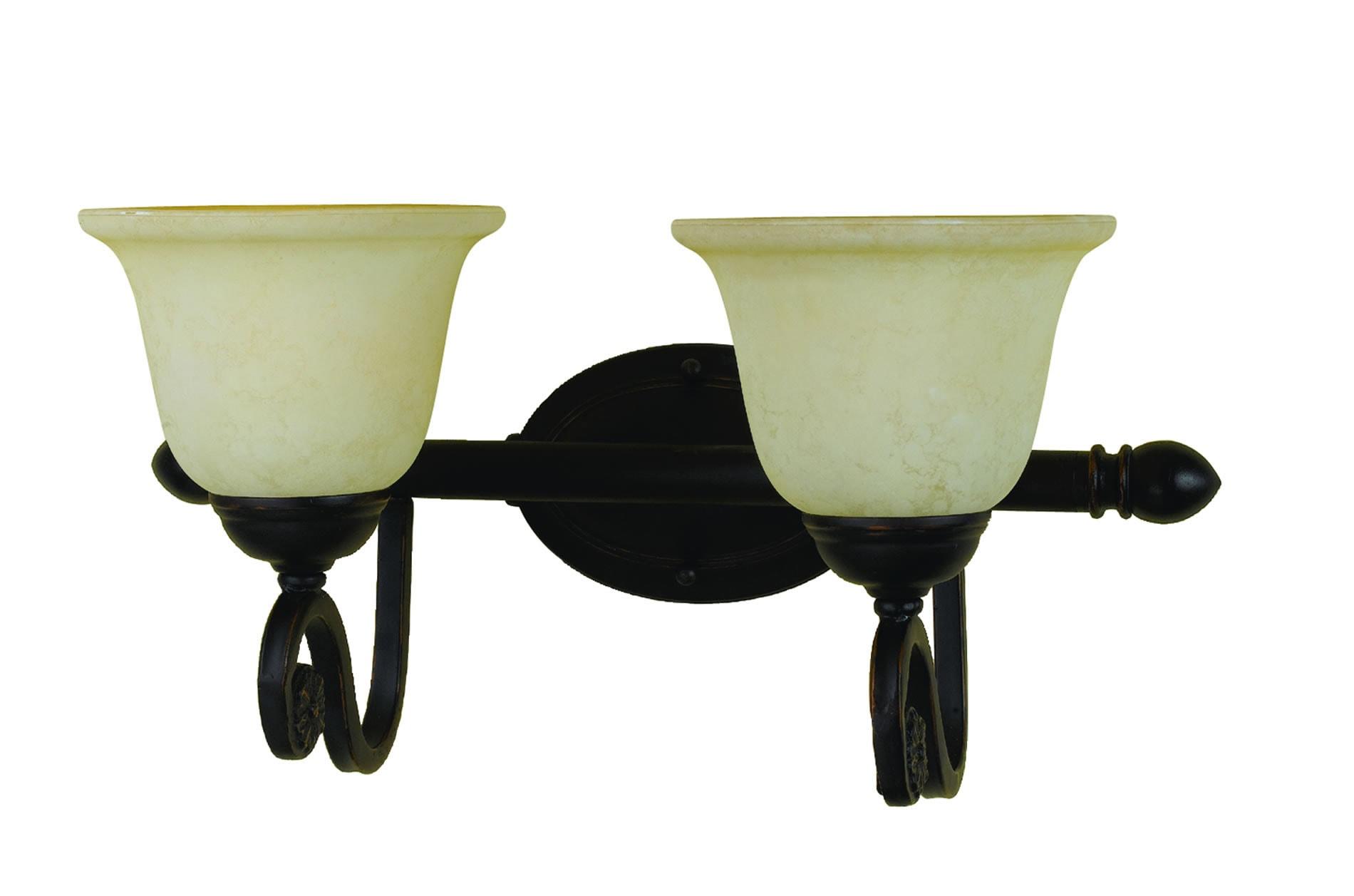 Harmony 2-light Oil-rubbed Bronze Vanity Fixture