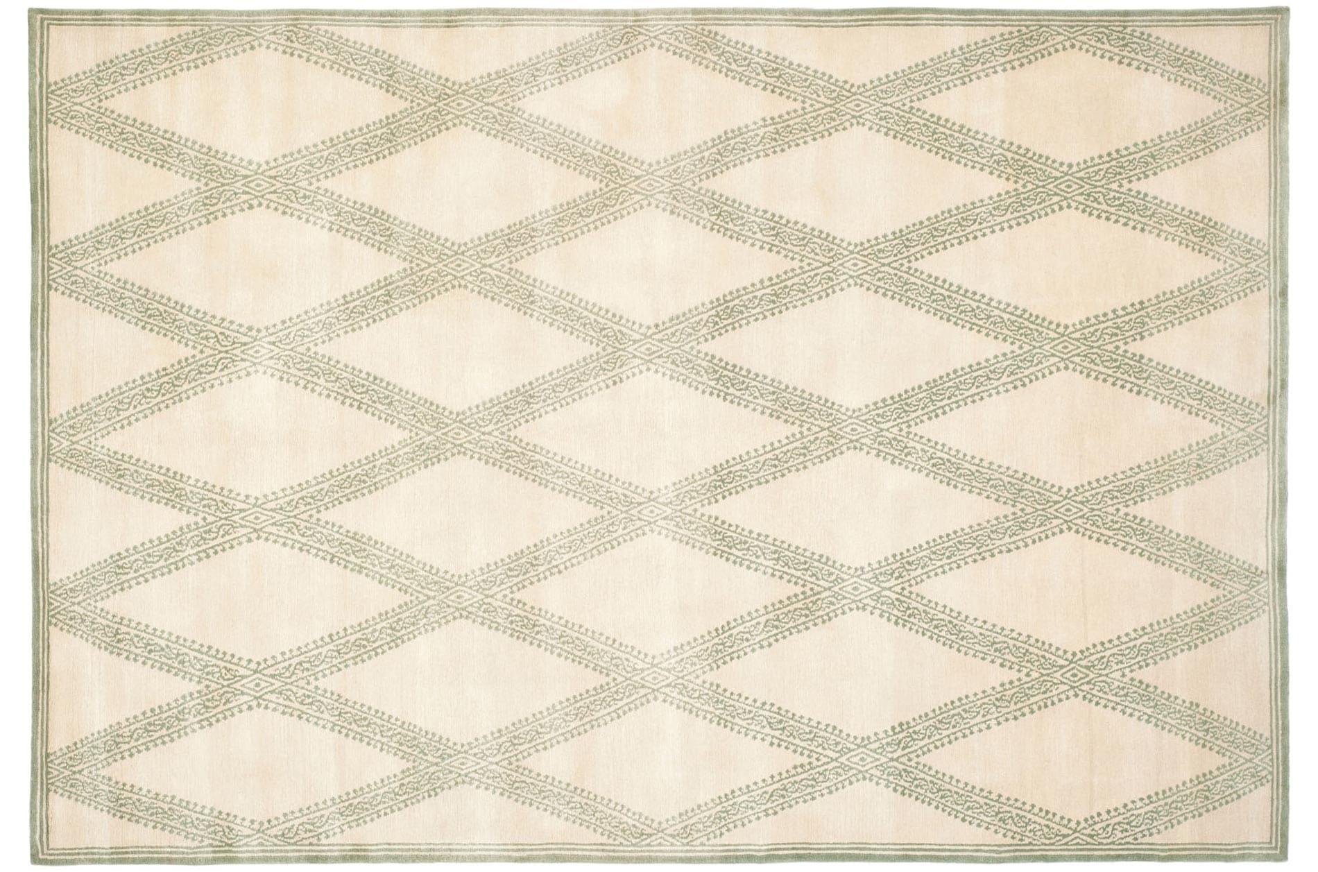 Handmade Thomas O'Brien Martine Ivory Wool Rug (6' x 9') - Thumbnail 0