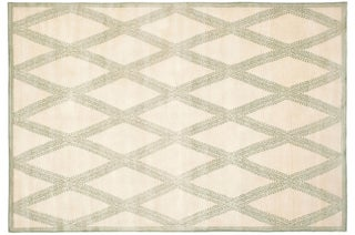 Handmade Thomas O'Brien Martine Ivory Wool Rug (9' x 12')