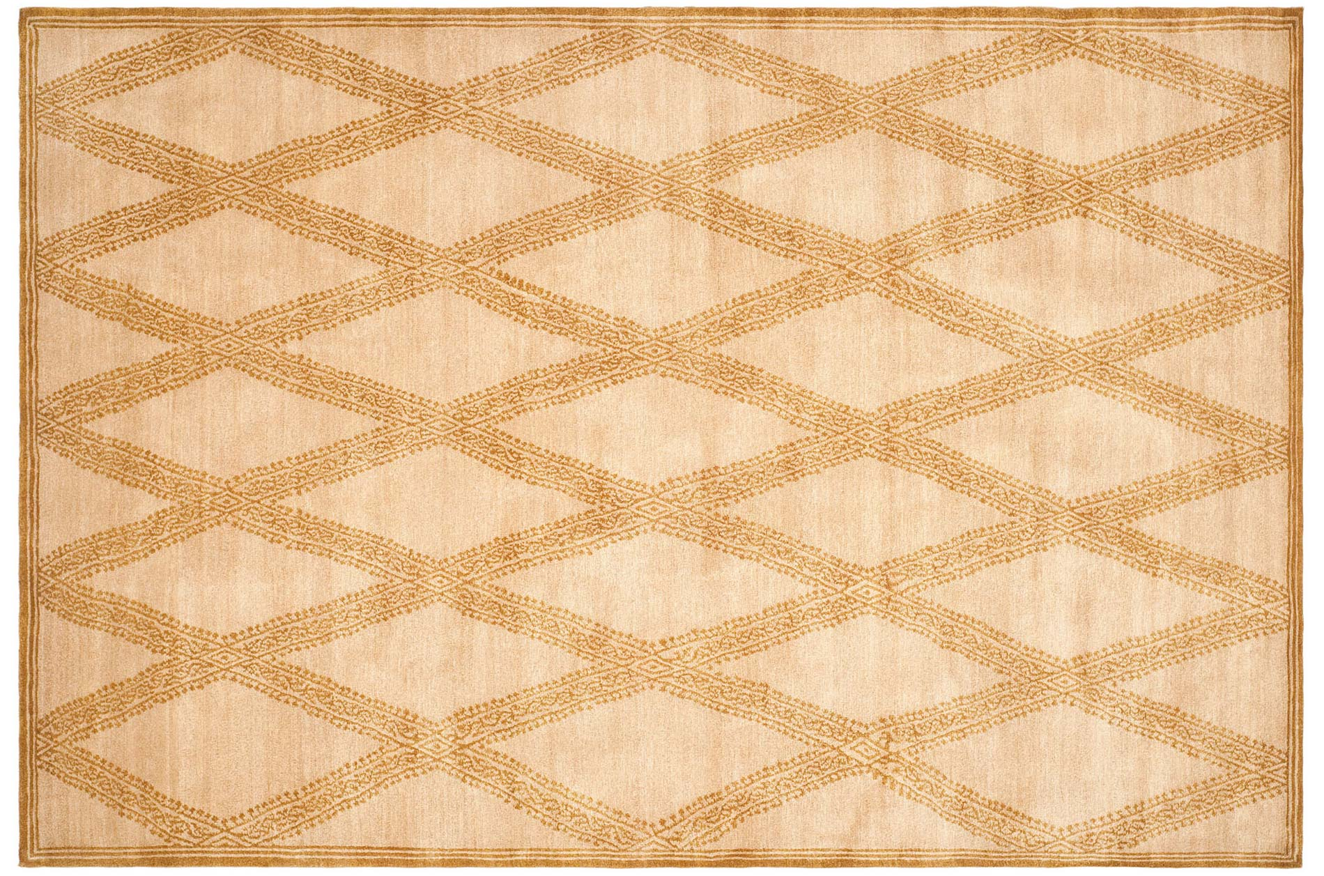 Handmade Thomas O'Brien Martine Sandstone/ Beige Wool Rug - 9' X 12' - Thumbnail 0