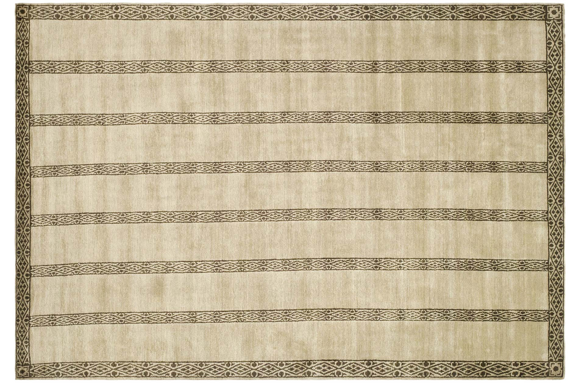 Handmade Thomas O'Brien Marco Olive/ Green Wool Rug (6' x 9')