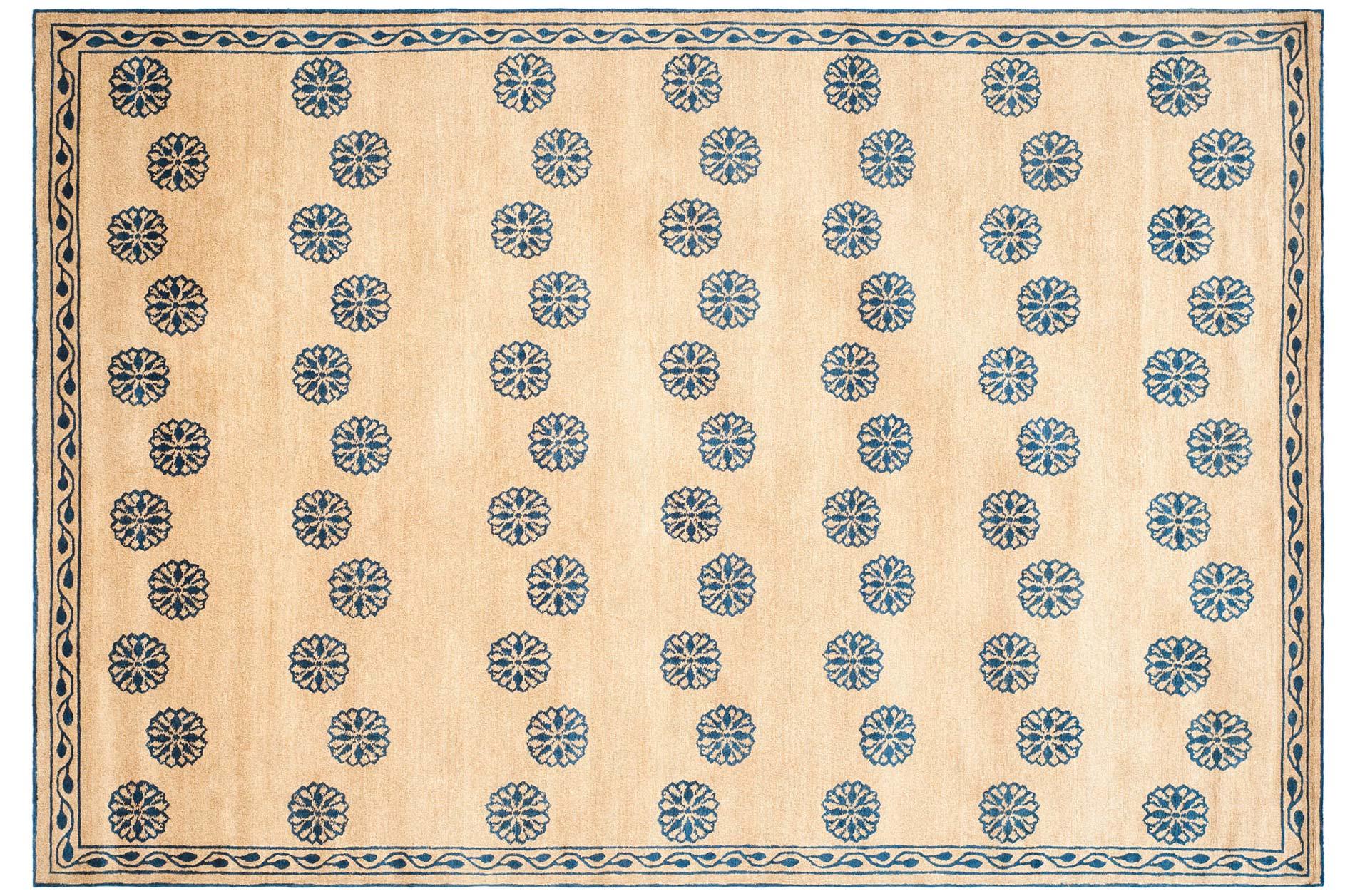 Handmade Thomas O Brien Alba Sand Wool Silk Rug 4 X 6