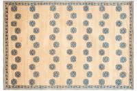 Handmade Thomas O'Brien Alba Sand Wool/ Silk Rug - 4' x 6'