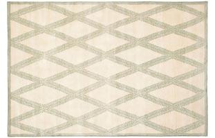Handmade Thomas O'Brien Martine Ivory Wool Rug (6' x 9')