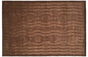 Handmade Thomas O'Brien Allium Coco Wool Rug - 9' x 12'