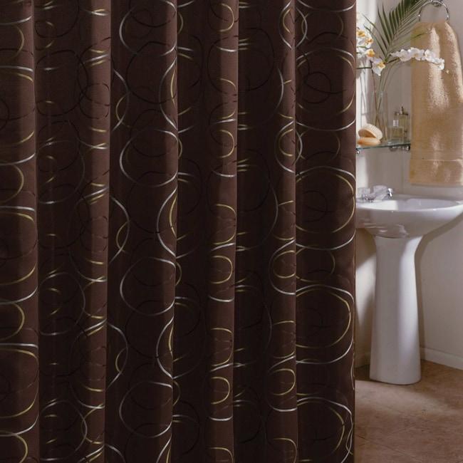 Edmon Chocolate 72-inch Shower Curtain