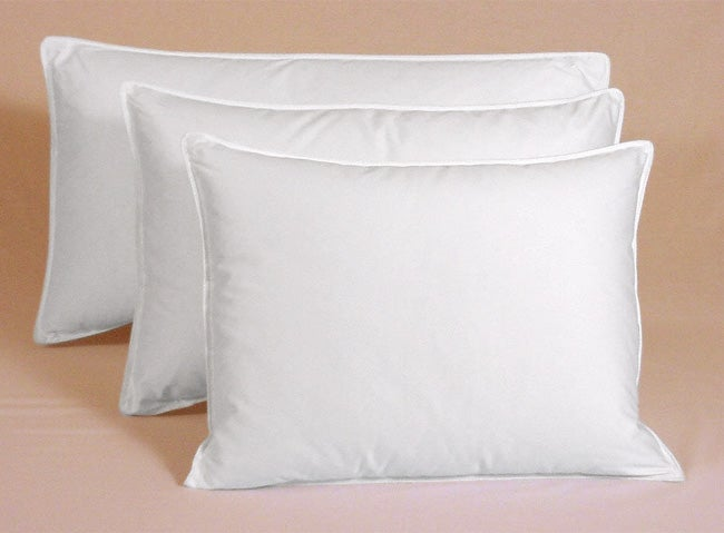 Egyptian Cotton 375 Thread Count Siberian White Down Pillow - Thumbnail 0
