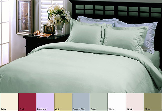 Egyptian Cotton 400 Thread Count 3-piece Duvet Cover Set