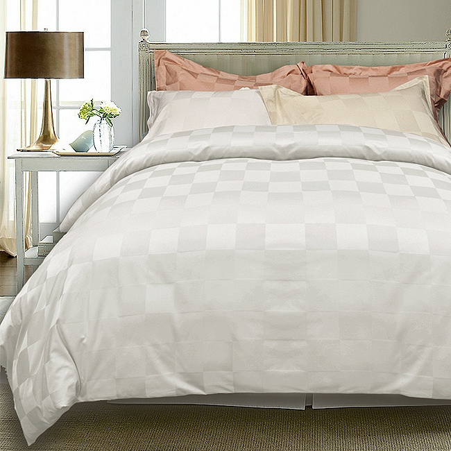 Euro Check 1000 Thread Count 3 Piece Duvet Cover Set