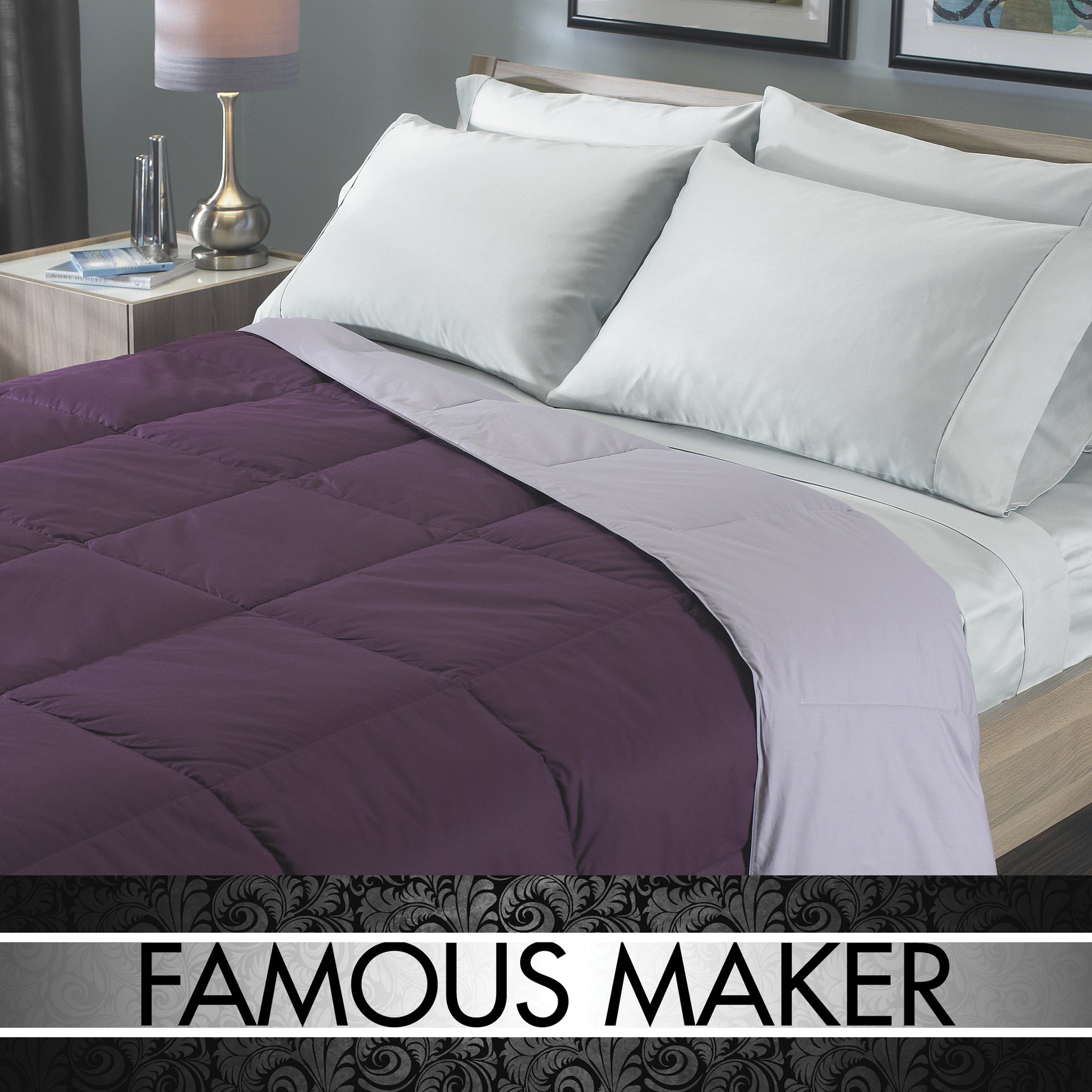 Famous Maker Reversible Colored Down Comforter Overstock 7348648