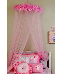 Feather Boa Mosquito Net Canopy