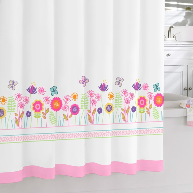 Floral Garden Printed Shower Curtain