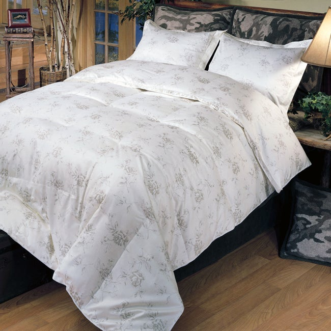Floral Print 350 Thread Count Down Alternative Comforter - Thumbnail 0