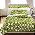 Green Scroll 2-piece Twin-size Duvet Cover Set