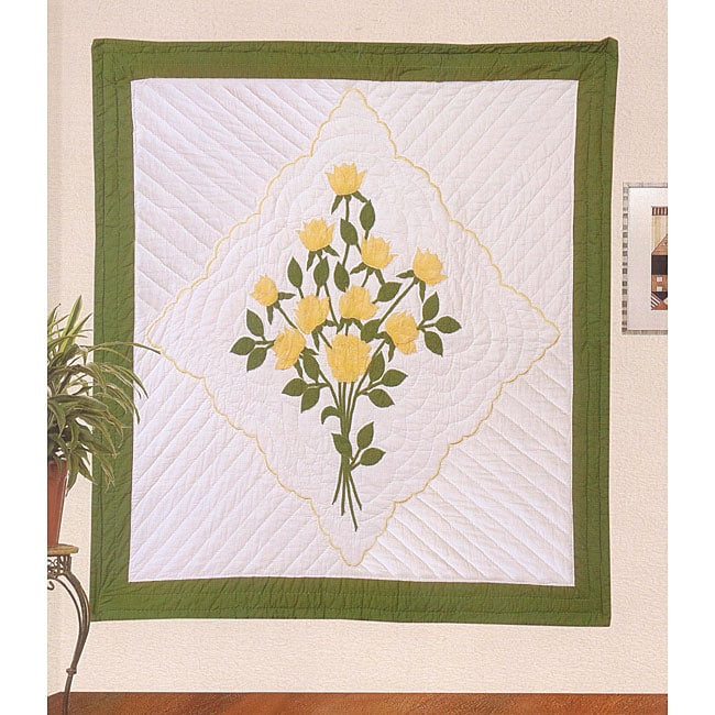 Hand-quilted Gold Handkerchief Throw