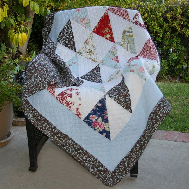 Greenland Home Fashions Harbor Sky Quilted Throw