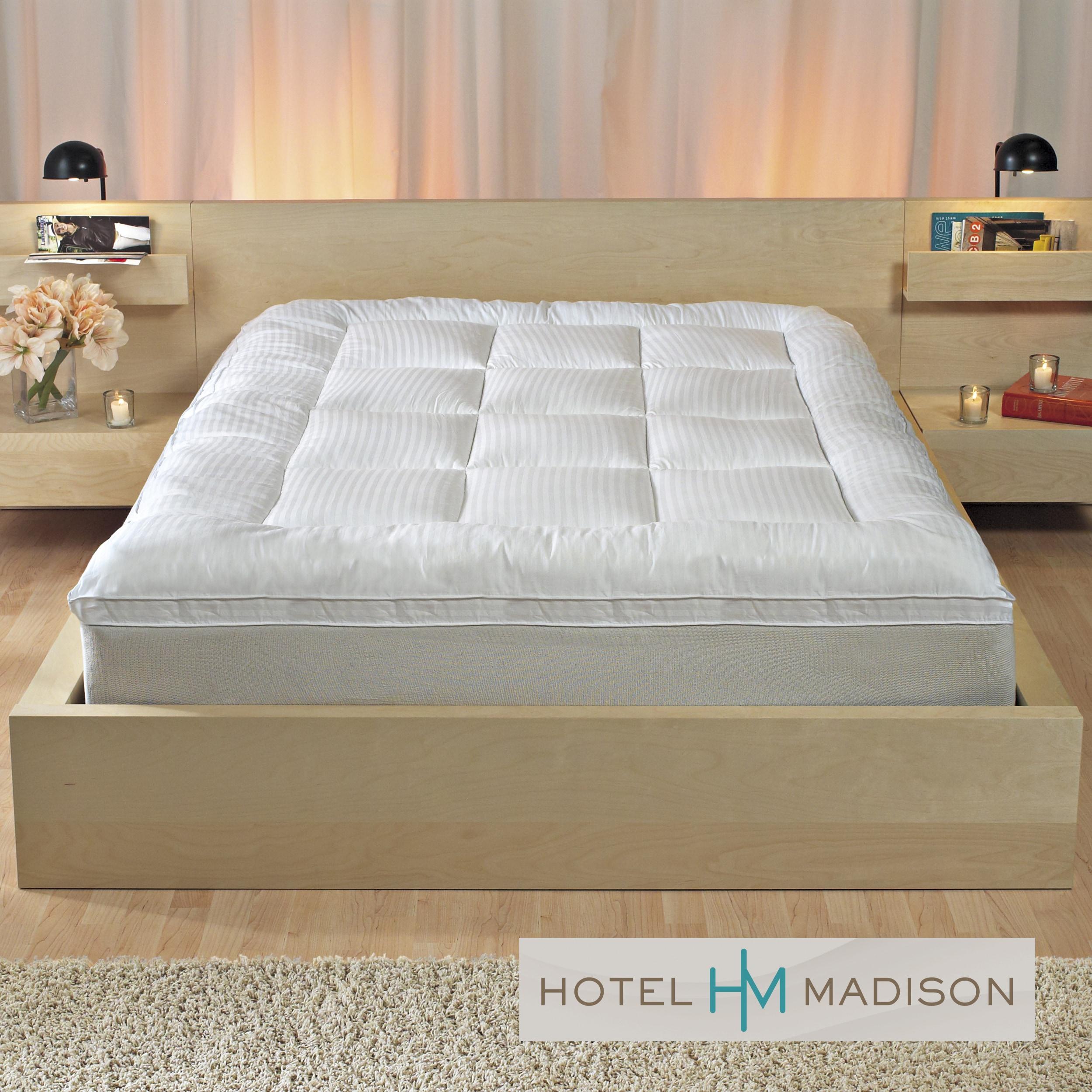 hotel madison high loft cotton gusset mattress topper. Black Bedroom Furniture Sets. Home Design Ideas