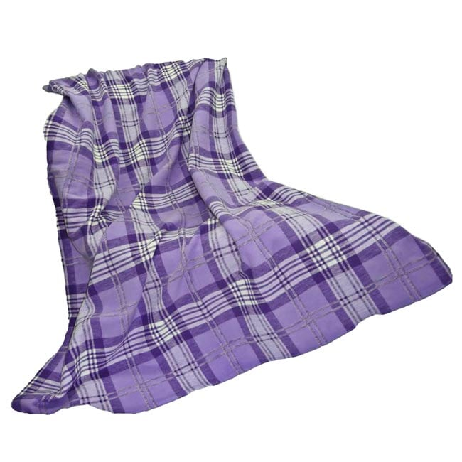 Pure Purple Plaid Yarn Dyed Plaid Throw