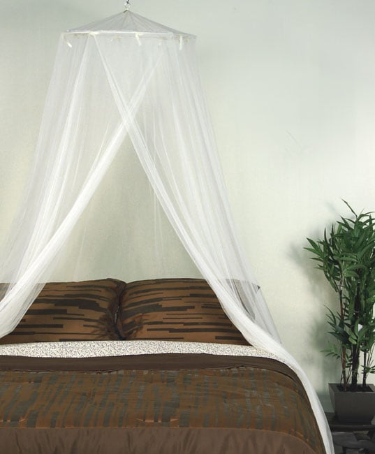 Ivory mosquito net canopy free shipping on orders over - Bed canopies for adults ...