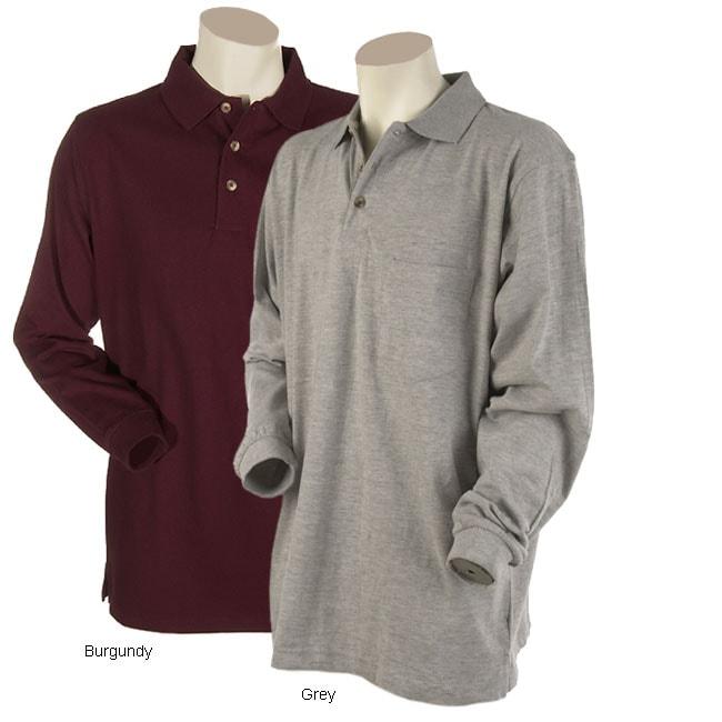haggar men 39 s long sleeve polo shirt free shipping on