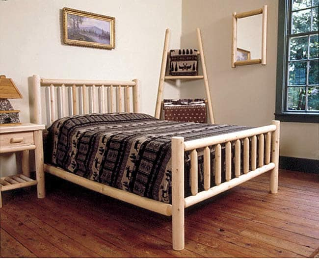 Rustic Log Pole Cedar Adirondack Bed Full Free