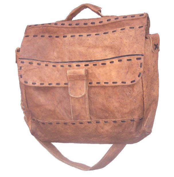 Handmade Leather Satchel (Nepal)