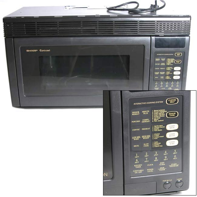 Sharp Over The Range Convection Microwave Refurbished