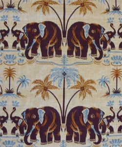 Jaipur Dual Elephant Cotton Throw  (India) - Thumbnail 2