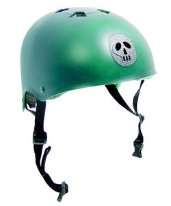 Pryme Helmet for Skateboards and Power Scooters - Green - Thumbnail 0