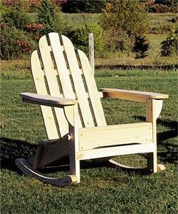 Thumbnail 1, Classic Cedar Adirondack Rocking Chair.