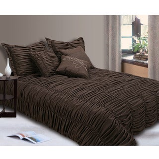 Jenny George Designs Ruched 7-piece King-size Comforter Set