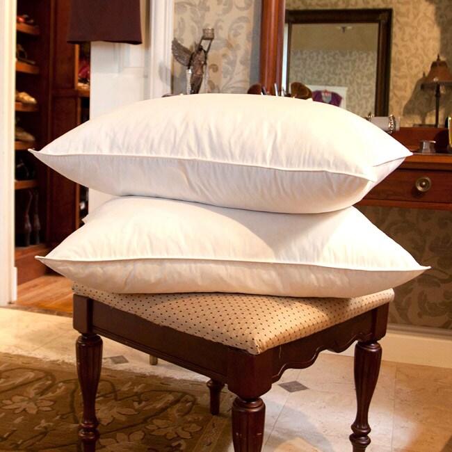 White Goose Feather Pillows (Set of 2)